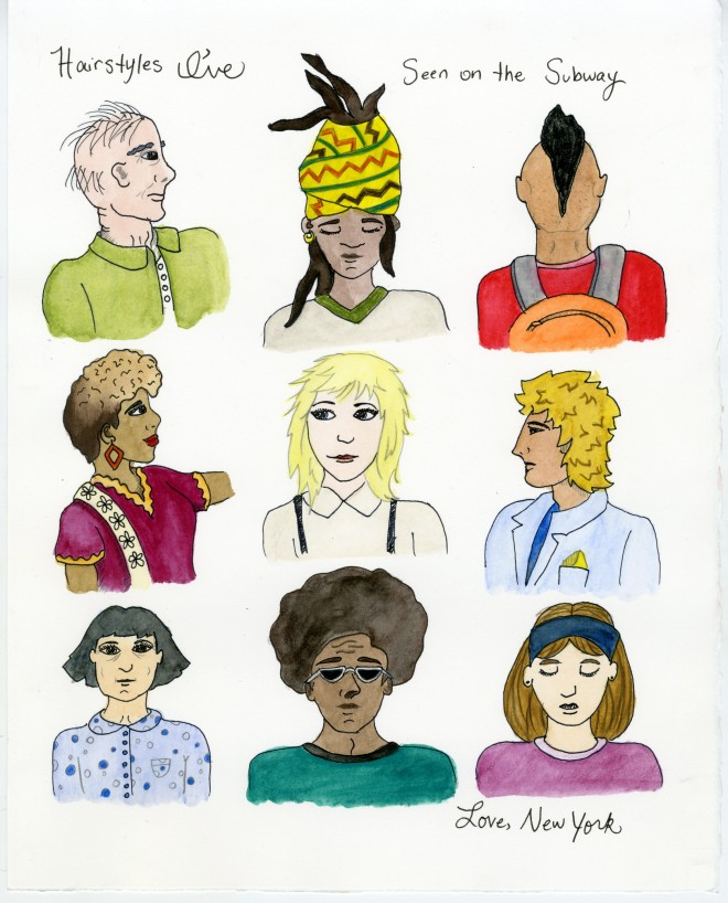 Hairstyles I've Seen on the Subway